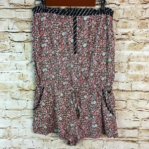 ROXY Floral Strapless Romper Shorts